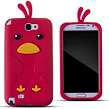 Zooky® rojo silicona pollo FUNDA / CARCASA / COVER para Samsung Galaxy Note 2/II (N7100)