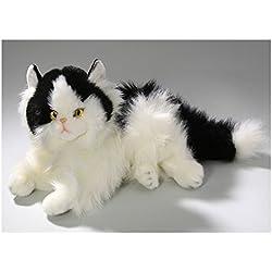 Peluche - Gato que miente en blanco y negro (felpa, 30cm) [Juguete]