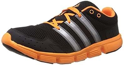 adidas Men's Breeze 101 M Black, Metallic Silver and Orange Mesh Running Shoes - 12 Uk