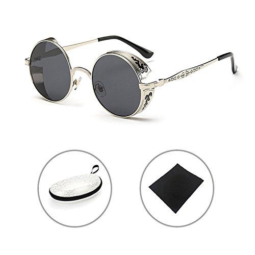 Retro gafas de sol Steampunk Metal Vintage Gótico Sunglasses