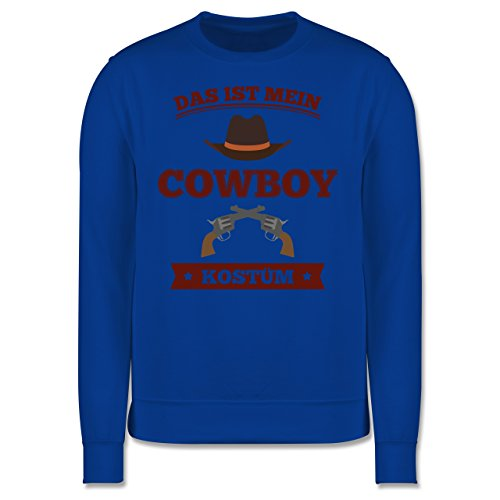 Karneval & Fasching - Das ist mein Cowboy Kostüm - Herren Premium Pullover Royalblau