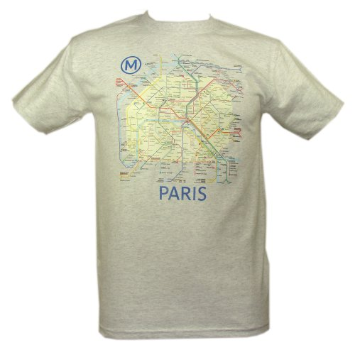 RATP - T-Shirt Homme Officiel Paris Métro - Couleur : Gris