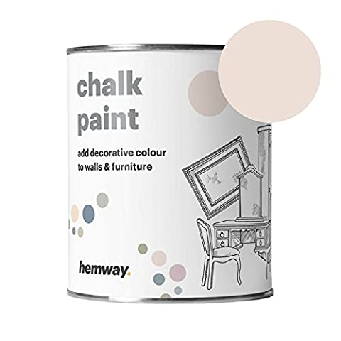 Hemway Chalk Paint (Peaches n Cream) Matt finish Wall and Furniture Paint 1L / 35oz Shabby Chic Vintage Chalky (14 Colours