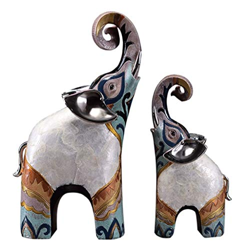 DONGLU Elefant fertigt Harz-Hauptdekoration-Wohnzimmer-Dekorations-Büro-Grafik
