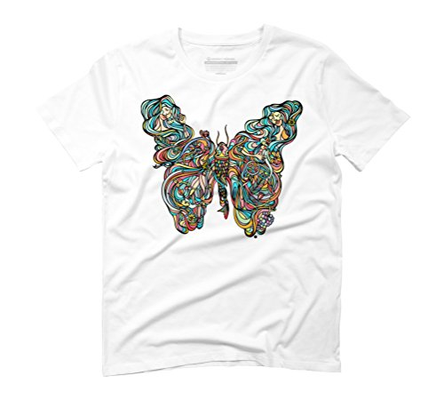 Butterfly Men's Graphic T-Shirt - Design By Humans White