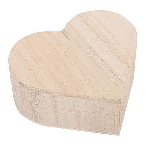 Rosvola Holz herzförmige Aufbewahrungsbox, Neue schöne Schmuck Aufbewahrungsbox Verpackung Tragetasche Handwerk Dekoration heiß für den Heimgebrauch -