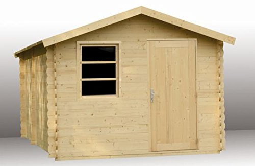 Alpholz Gerätehaus Toby aus Fichten-Holz | Gartenhaus inkl. Dachpappe | Geräteschuppen...
