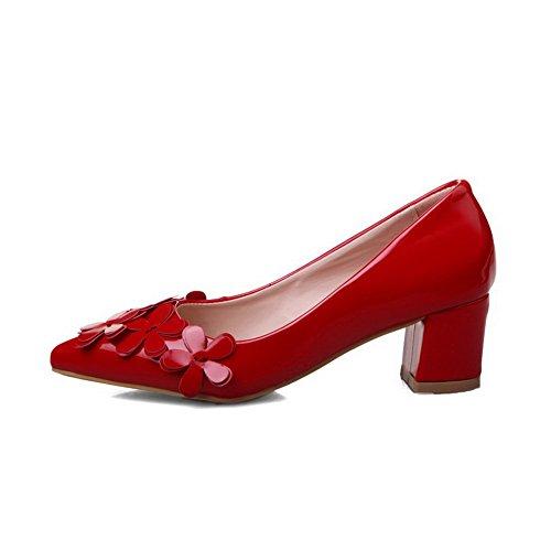 Unie Correct À Chaussures Rouge Talon Femme Tire Couleur Légeres qYwqBR