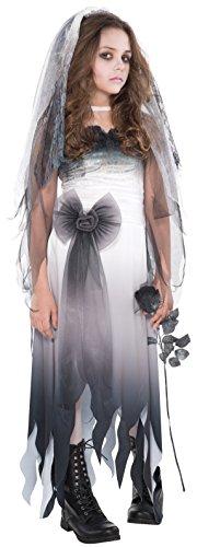 Imagen de disfraz de novia cadáver para adolescentes en varias tallas para halloween