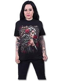 Spiral Women - Dead Tattoo - Front Print T-Shirt Black