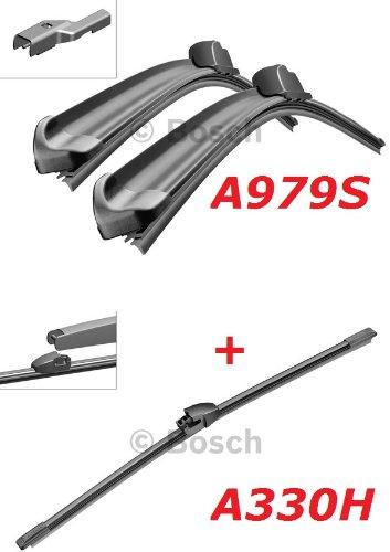 Bosch Scheibenwischer Front.- und Heckwischer - Aerotwin A979S Längen: 600/475mm (3397118979) & A330H Länge: 330mm (3397008006)