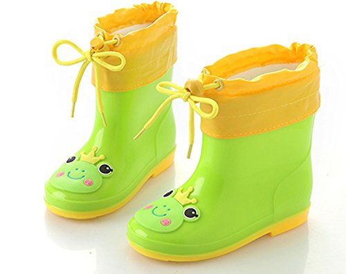 Wanghong Kids Toddler Girl Boy Rubber Rain Boot for Baby Child