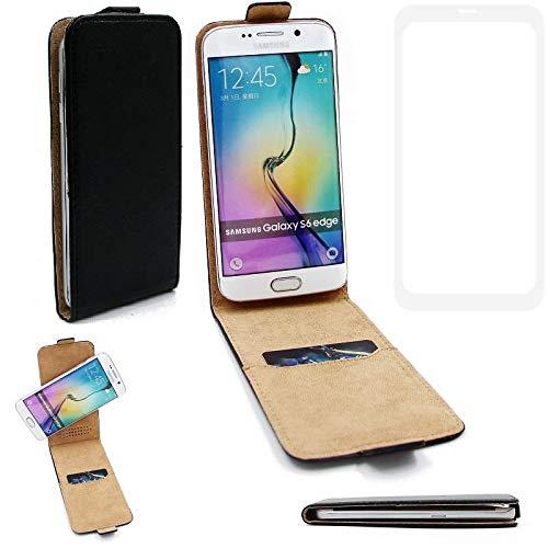K-S-Trade® Für Leagoo KIICA Power Flipstyle Schutz Hülle 360° Smartphone Tasche, Schwarz, Case Flip Cover Für Leagoo KIICA Power