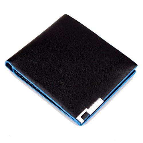carpeta de los hombres, FEITONG la moda mujeres de la señora del bolso del monedero titular de la tarjeta bolso de la cartera móvil a largo (Negro)