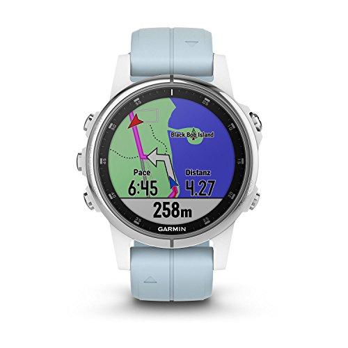 Garmin Fenix 5S Plus - Reloj GPS Multideporte, Color Azul (Celeste)