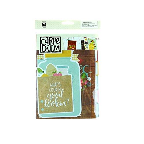 Carpe Diem Recipe Planner Inserts A5- Rezept-teiler