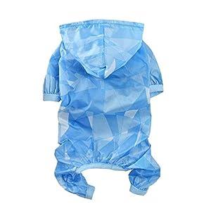 Manteaux imperméables pour chiens MGRJ, vêtements en peau de petit chien Fourlegged Pet Raincoat veste de pluie Combinaison pluie Poncho manteau Coupe-vent Protection contre le soleil Vêtements anti-pluie