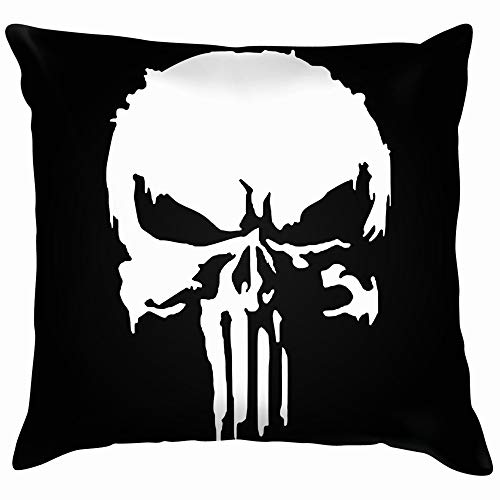 nes Icon Element Crime Punishment The Arts Punisher Cotton Linen Home Decorative Throw Pillow Case Cushion Cover for Sofa Couch 18X18 Inch ()