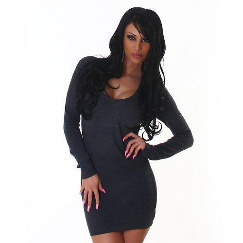 Pulls Crew Neck Mini-robe de la femme Jela Londres Taille 36,38,40,42 - différentes couleurs darkgris