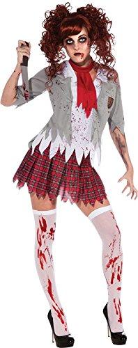 Zombie Schulmädchen Damenkostüm, (Party High Kostüme School Motto)