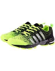 Frauen Männer Sport Laufschuhe Atmungsaktiv geschnürt Athletische Fitness Flats Turnschuhe Walking Jogging Gym Trainer 38-46