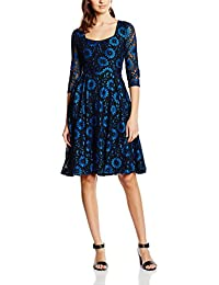 Lindy Bop Lisette, Robe Femme, Blue Black Lace
