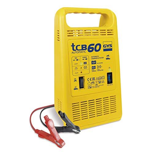 Gys GYS-023253-TCB TCB 60-Chargeur AUTOMATIQUE-230V-LIVRE avec Pinces DE Charge ISOLEES
