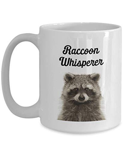 Tasse mit Waschbär-Whisperer, lustiger Teetasse, Kakao, Kaffeetasse, Geschenkidee, Geburtstagstasse