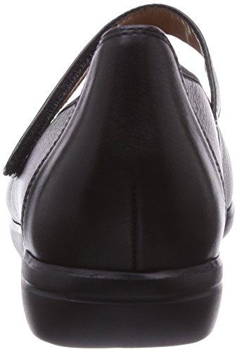 Ganter FRANZI, Weite F, Ballerine chiuse donna Grigio (Grau (schwarz 0100))