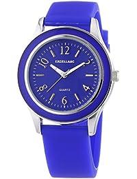 Excellanc Damen-Armbanduhr Analog Quarz Kautschuk 195023000152