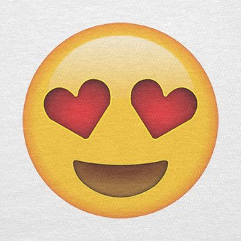 TEXLAB - Heart Eyes Emoji - Damen T-Shirt Weiß