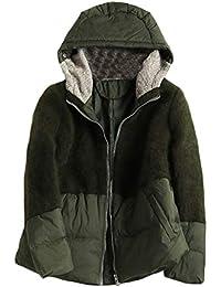 3657e998dab3f4 Mtydudxe Color Block Hooded Winter Cotton Jacket Damen Lange Ärmel  Reißverschluss Puffer Mantel