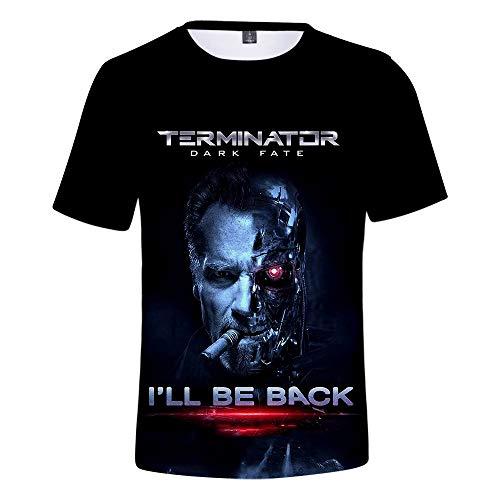 Terminator Mädchen Kostüm - Ywfzzxs T-Shirt 3D Tops Mode-T-Shirts Unterhemden Kurzarm Unisex Neuheit Kostüm HD Anime Druck Weste Terminator Dark Fate XS