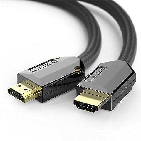 Honstek HD04 Hochgeschwindigkeits-HDMI-Kabel 2.0 für Xbox One / 360, PS3 / PS4, DVD Blu-ray-Player, HD-TV / Projektor, Feuerwehr / Apple / Smart TV Box, Desktops, Laptops, PC, Computer, A / V-Receiver und anderen HDMI-fähigen Geräte (3m)