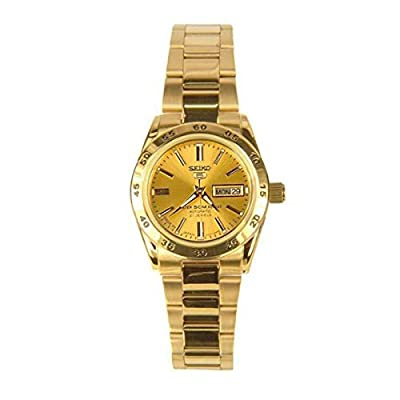 Seiko SYMG44K1 - Reloj con correa de acero para mujer, color dorado / gris
