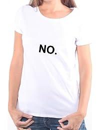 Mister Merchandise Femme Chemise T-Shirt NO. , Ladies Tee Taille: XS, Couleur: Blanc