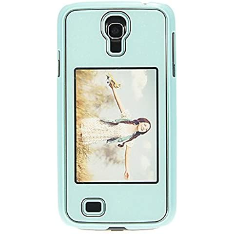 Bling Shimmering posteriore dura della copertura di caso di protezione con foto che mostra Slot per Samsung Galaxy i9500 S4 (Verde)