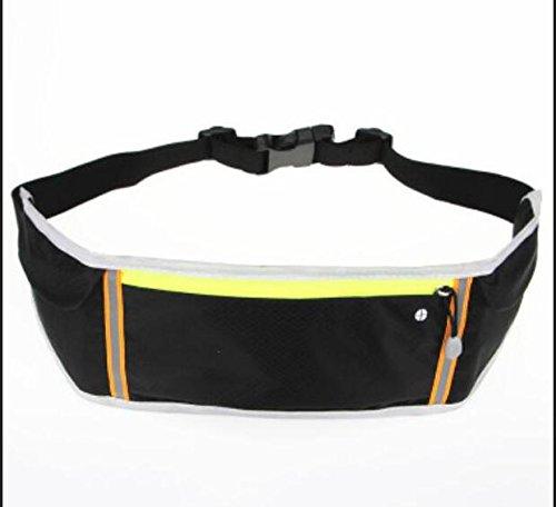ZYT Heimlichkeit unter Pack Taschen outdoor-Ausrüstung Handy persönliche multifunktionale Marathon Männer und Frauen-Band Black