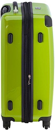 HAUPTSTADTKOFFER® 2er Hartschalen Kofferset · Handgepäck 45 Liter (55 x 35 x 20 cm) + Koffer 87 Liter (63 x 42 x 28 cm) · Hochglanz · TSA Zahlenschloss · GELB Apfelgrün