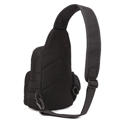 Imagen de deportiva bolsa de mensajero pecho táctico honda del hombro  senderismo  negro, nulo