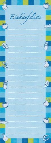 Preisvergleich Produktbild Einkaufsblock: 100 Einkaufszettel liniert für den Kühlschrank / Einkaufsliste  (magnetisch + Aufhänger)