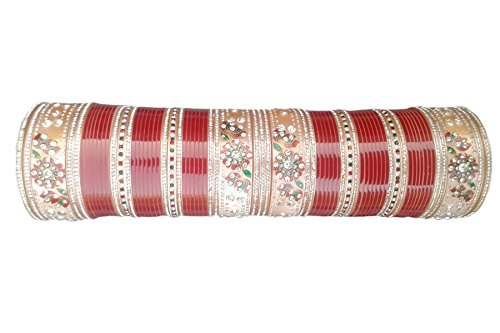 Vivah Bridal Chura Red Plastic Bangle Set For Women