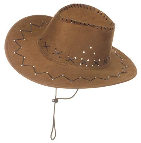 Brandsseller Karneval Kopfbeckung/Hut/Mütze Kostüm/Fasching/ - [ Motive: Cowboy] Damen Kopfschmuck Westernhut ()