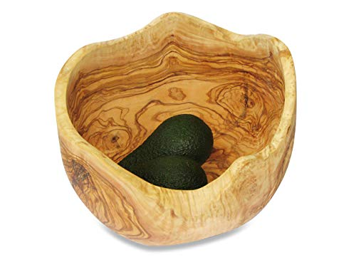 BELLA style ancien bol en bois d'olivier avec très beau maserung. alimentaire geölt. chaque bol est unique.. diamètre : environ 19-21 cm.