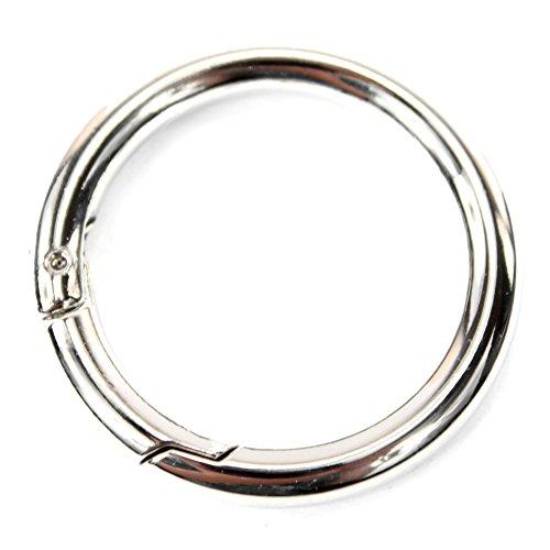Ersatzteil Karabiner Ringe Bastelbedarf für Handtaschen, Farbe:Karabiner-Ring 43mm 43mm Ring