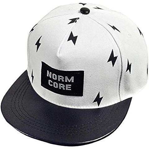 vovotrade Chico hiphop sombrero bordado Snapback ajustable Moda Gorra Unisex (blanco)