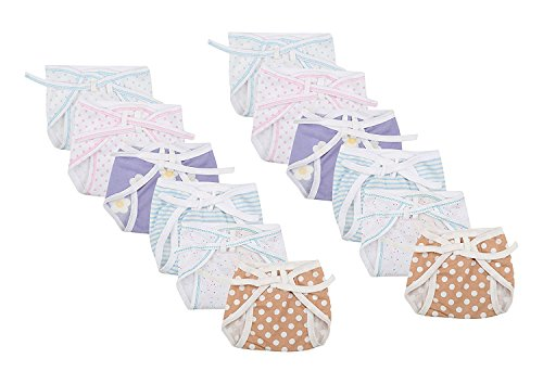 First Kids Step Newborn baby Hosiery cotton cloth nappies pack of 12 pcs (multi)(0-3months)