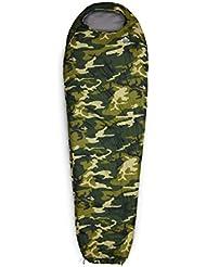 Lumaland Outdoor sacco a pelo, ca. 230 x 80 cm, sacca per il trasporto inclusa, confezione ca. 50 x 25 cm, verde mimetico