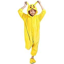 Auspicious beginning Pikachu niños pijama Animal de Cosplay de Onesie Sleepsuit Ropa de dormir ropa de casa Kigurumi pijama