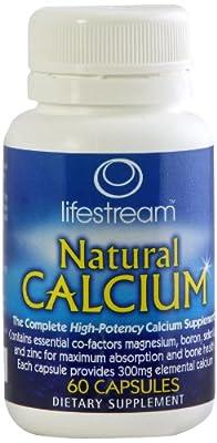 Lifestream Natural Calcium Capsule Pack of 60 by Lifestream